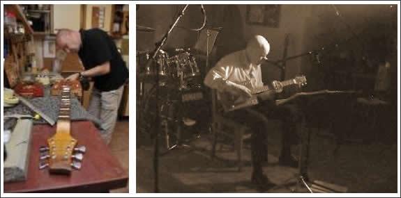Bluesgitarrist und Gitarrenbauer Andy Dörfler