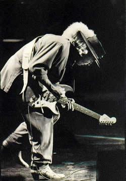 Stevie Ray Vaughan mit typischem Hut