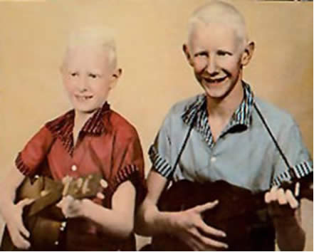 Johnny Winter und Bruder Edgar