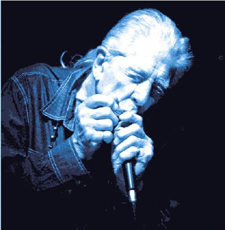 John Mayall mit Blues Harp